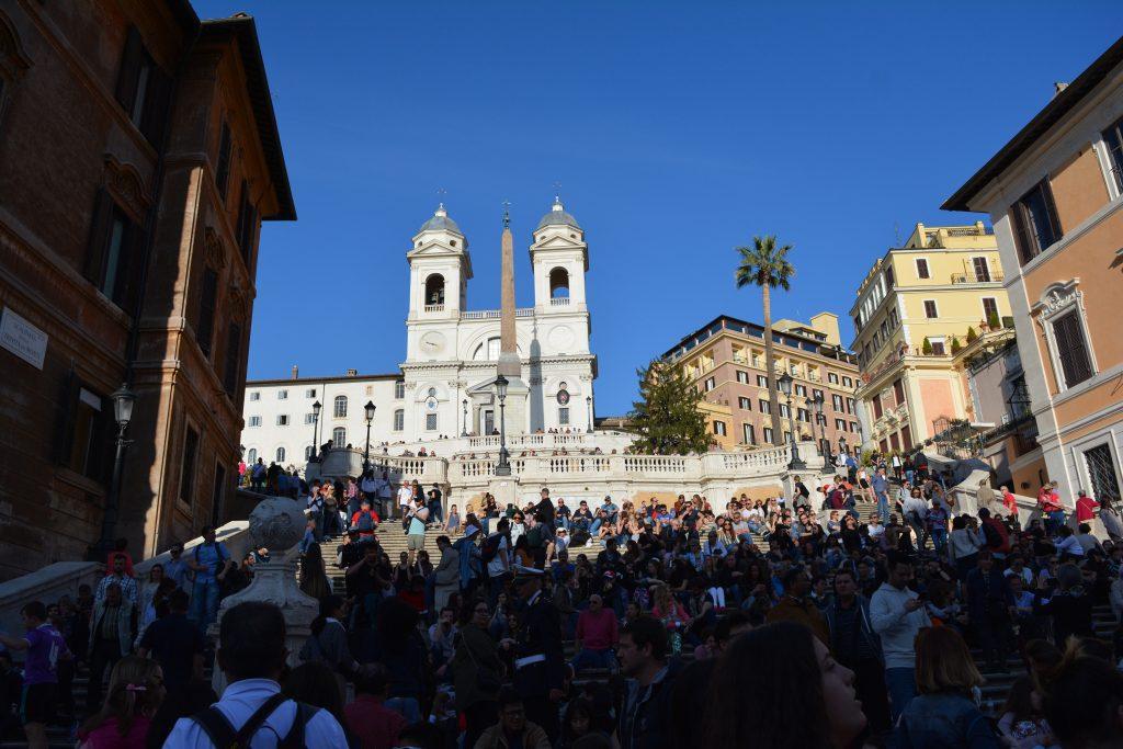 Испанските стълби в Рим. Снимка: Милена Кичашка
