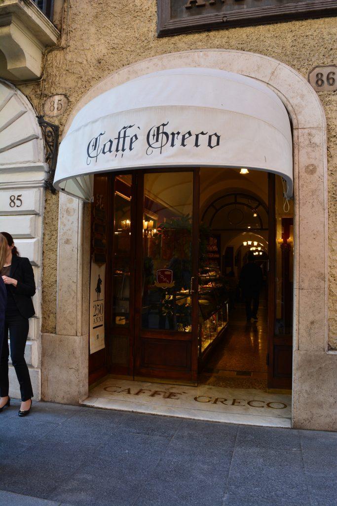 "Кафе ""Греко"" в Рим. Снимка: Милена Кичашка"